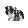 King Charles Spaniel Glass Ornament-Blk
