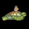 Sea Turtle Old World Glass Ornament