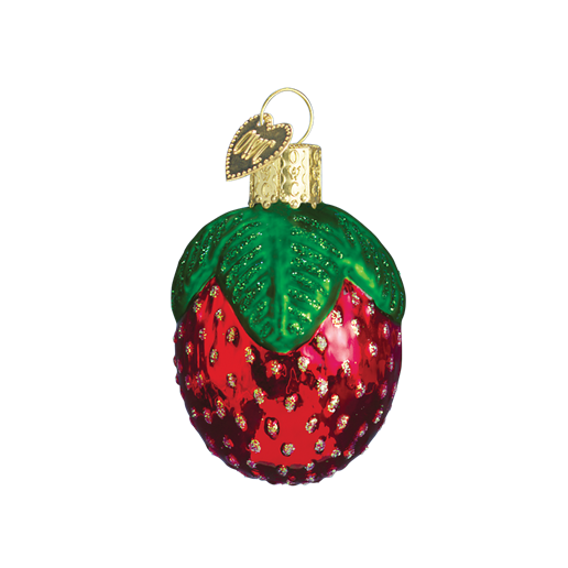 Strawberry Old World Glass Ornament