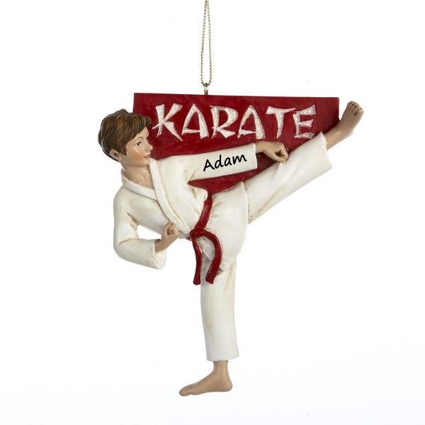 Karate Boy Personalizable Ornament