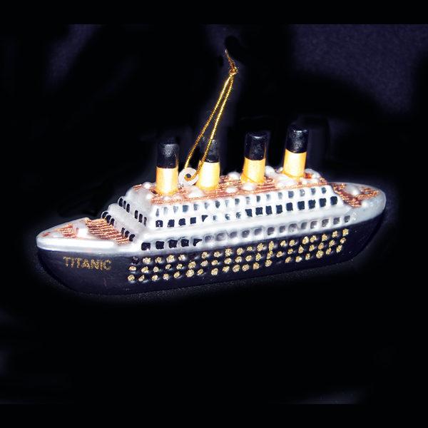 Titanic Old World Glass Ornament