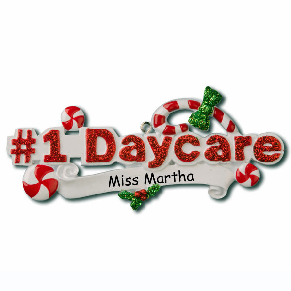 #1 Daycare Personalized Ornament