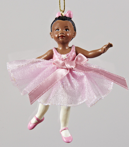african american little girl ballerina ornament winterwood gift