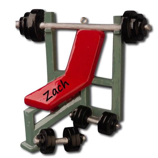 Weight Lifting Personalized Ornament