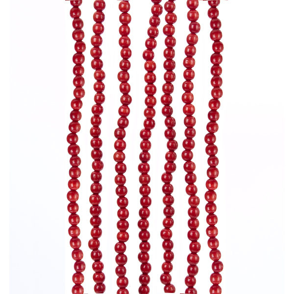 Red Wood Bead Garland