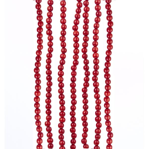 Red Wood Bead Garland