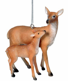 Deer with Baby Fawn Ornament