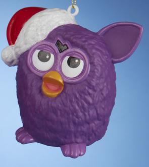 Furby Blow Mold Ornament-Purple