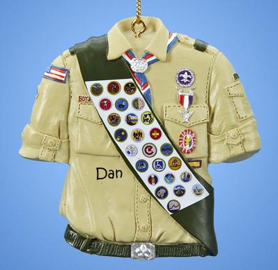 Boy Scout Uniform with Badges Ornament