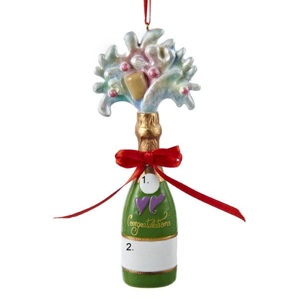 Champagne Personalized Ornament
