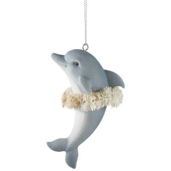 Christmas Dolphin Ornament
