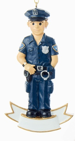 Policeman Personalized Ornament