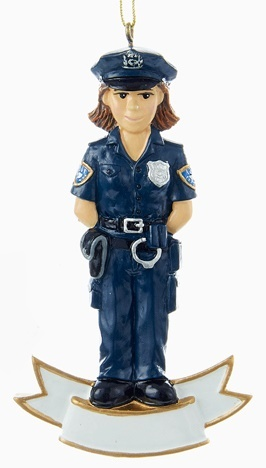 Police Woman Personalized Ornament
