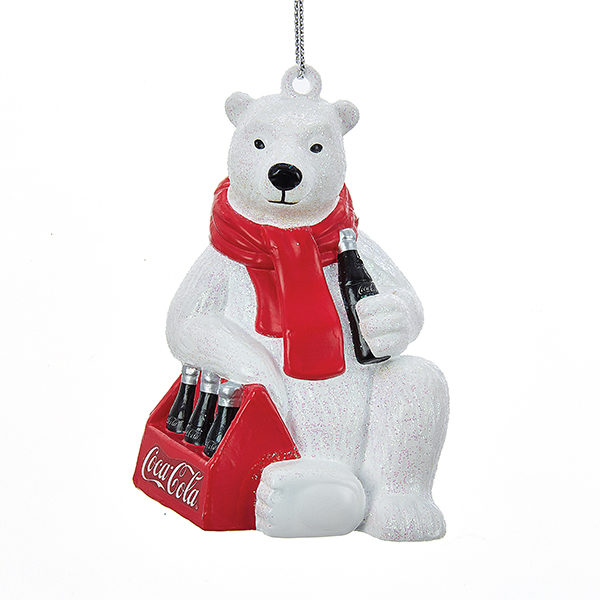 Polar Bear with Coca-Cola Six Pack Ornament