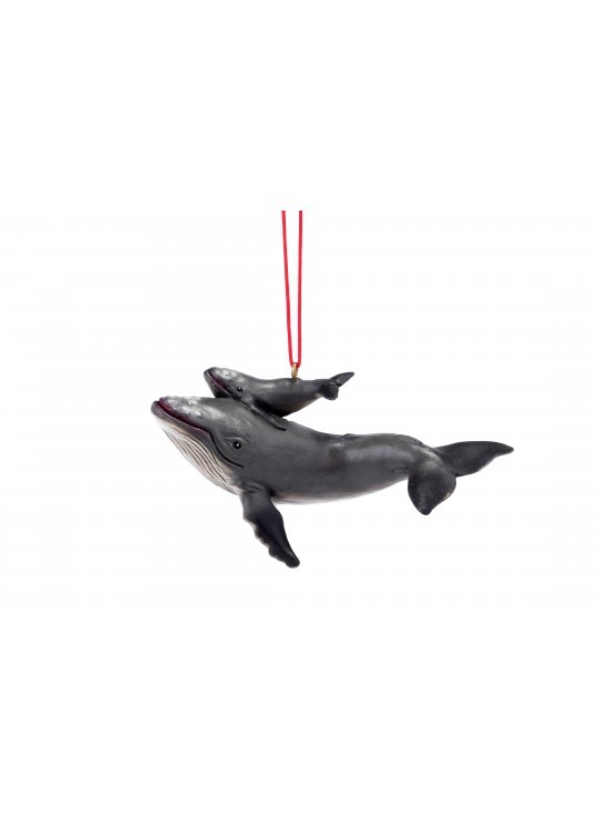 Whale & Baby Ornament
