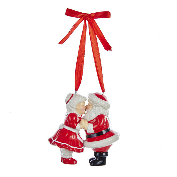 Kissing Mr. & Mrs. Santa Ornament