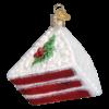 Red Velvet Cake Old World Glass Ornament